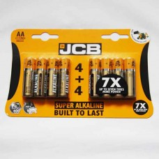 JCB AA Batteries Pack of 8 LR6 MN1500