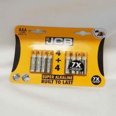 JCB AAA Pack of 8 LR03 MN2400